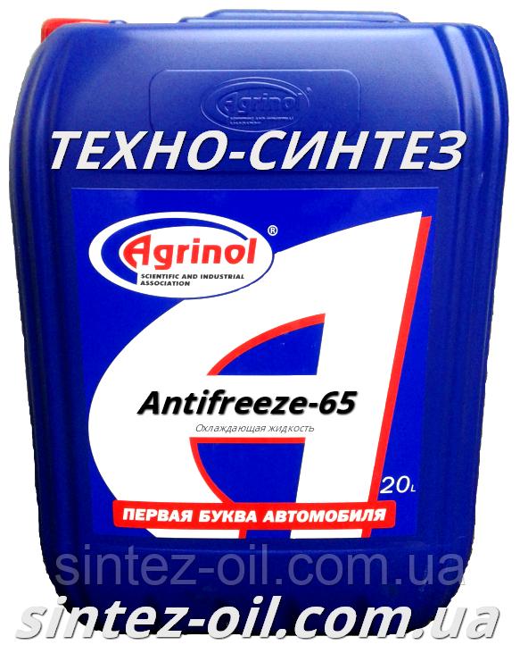 Антифриз синий концентрат (-65°C) Antifreeze-65 АГРИНОЛ (21 кг)