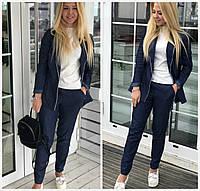 Женский джинсовый костюм в мелкий горошек 17970, фото 1