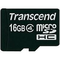 Флешка Micro SDHC Class (4) 16GB Transcend