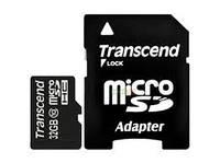 Флешка Micro SDHC Class (4) 32GB Transcend