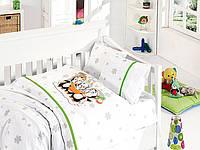 Постельное белье детское First Choice бамбук Penguins yesil (kod 3263), фото 1