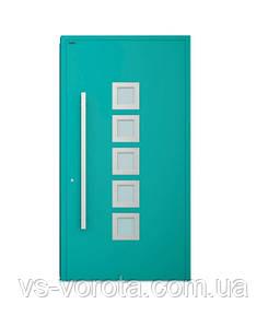 Двери алюминиевые входные WISNIOWSKI модель CREO 335 - размер 1200Х2300 мм