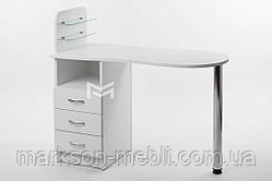 """Манікюрний стіл M101 скляними поличками під лак """"Естет №1"""""""