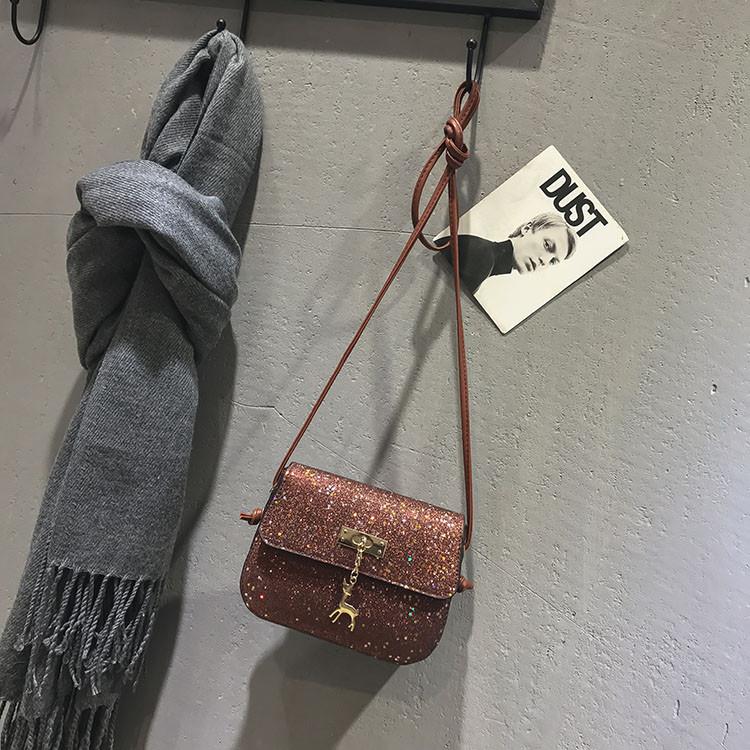 Блестящая сумочка через плечо