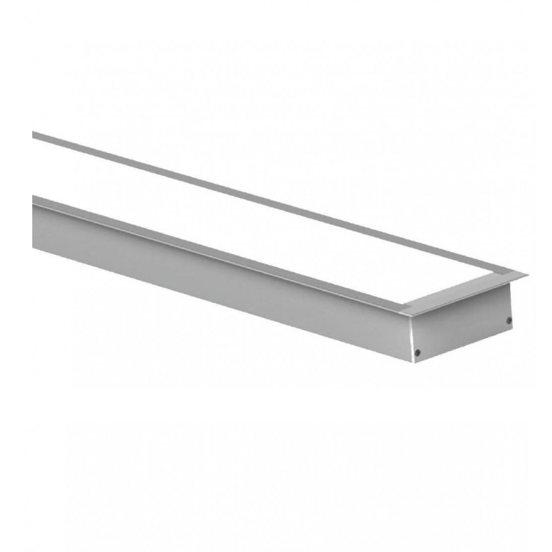 TenDency 38W 4100Lm (25х100х1000) врезной/встроенный линейный LED-светильник (торцы ПВХ)