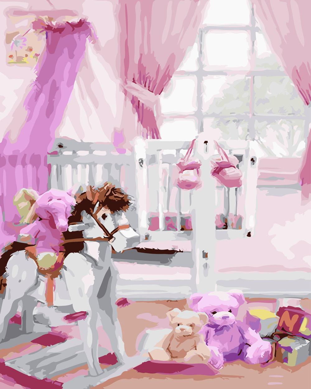 Картина по номерам Детская комната, 40x50 см., Rainbow art