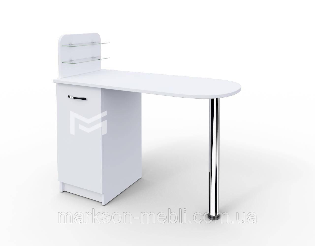 """Маникюрный стол M105 """"Практик"""" c полочками под лак"""
