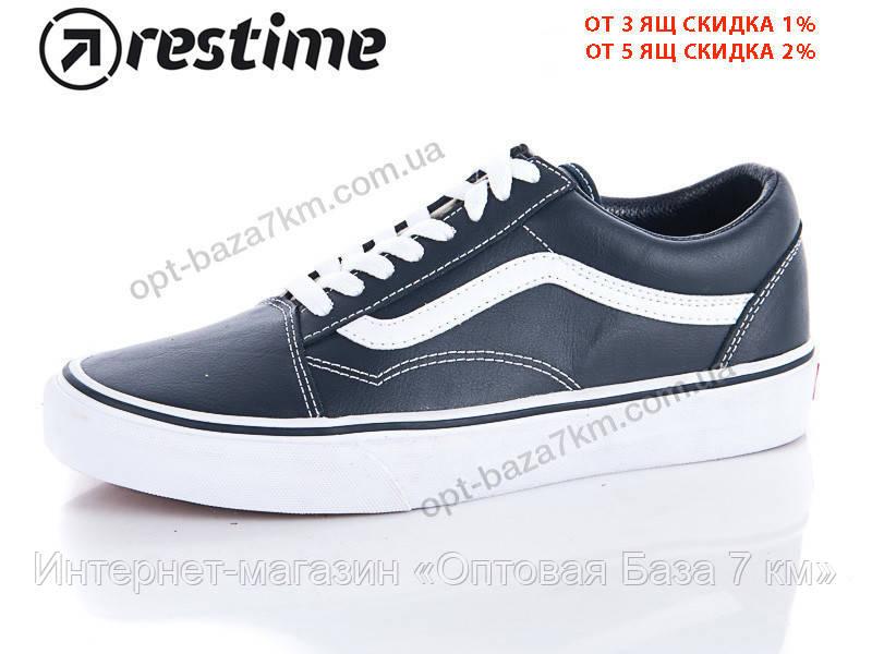 8ae65060 Кроссовки мужские Restime VMB18108-1 navy-white (41-45) - купить оптом на  7км в одессе