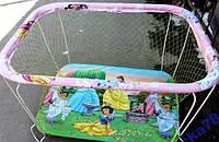 Манеж для детей с крупной сеткой и мелкой !