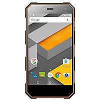 "Защищенный смартфон Sigma PQ24  Black-Orange оранжевый IP68 (2SIM) 5"" 1/8 GB 2/8 Мп 3G оригинал Гарантия!"