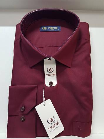 Однотонная рубашка Nens классического кроя, фото 2