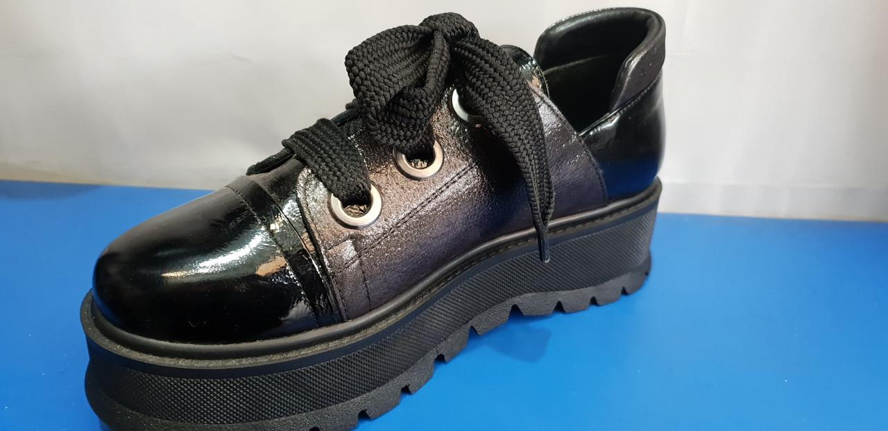 Женские туфли  на толстой подошве Euromoda