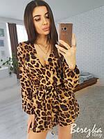 Женский комбинезон с леопардовым принтом
