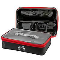 Коробка Carp Expert EVA для наживки на молнии 40х25х10cm + 4 съемные секции