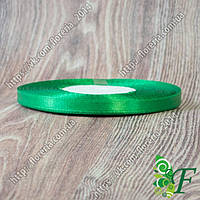 087-Атласная лента_33 м_07мм зеленая