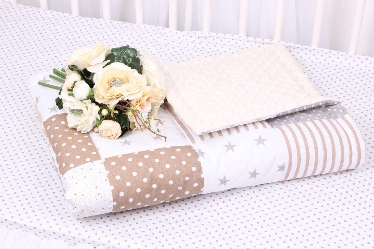 Детское теплое одеяло в нежных тонах