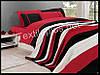 Комплект постельного белья с покрывалом First Choice Nirvana Kirmizi полуторный (kod 3272)