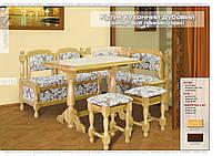 Кухонный уголок+стол+2 табурета из дуба (Мебель-Сервис)