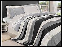 Комплект постельного белья с покрывалом First Choice Nirvana Gri полуторный (kod 3274)