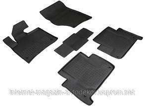 Коврики резиновые для Audi Q7 2006-15 г. Seintex c бортиком, высокого качества.