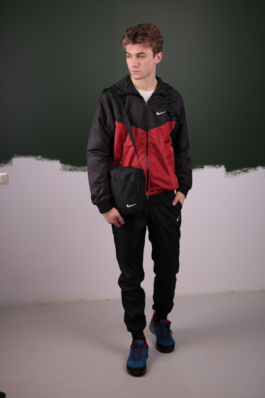 Спортивный костюм Найк / Nike: Ветровка Найк (Nike) + Штаны + Барсетка в подарок