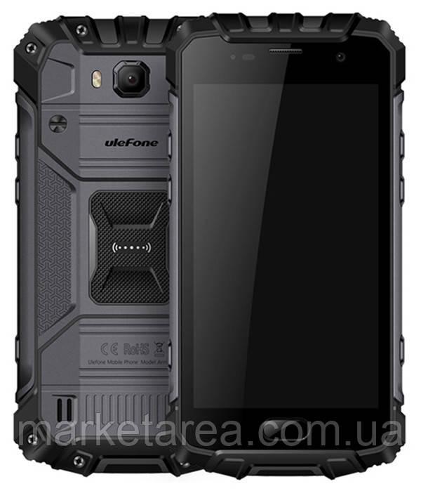 Смартфон защищенный, водонепроницаемый с мощной батареей на 2 сим карты UleFone Armor 2 black 6/64 гб NFC