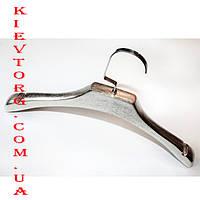 Вешалки плечики для верхней одежды и трикотажа серебро 40 см