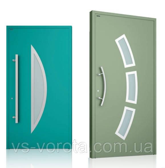 Двери алюминиевые наружные WISNIOWSKI модель CREO 332 - размер 1200Х2300 мм