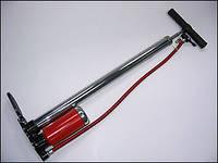 Насос автомобильный ручной Vitol НР-32500 c манометром (металлический)