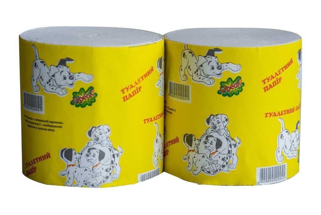 Туалетная бумага Долматинец, без гильзы