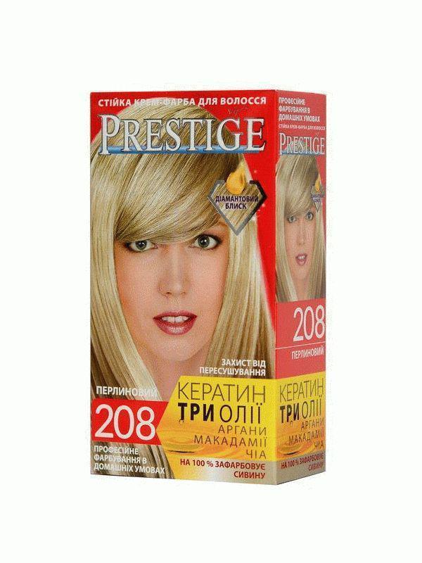 Стойкая крем краска Prestige №208 Жемчужный Блондин