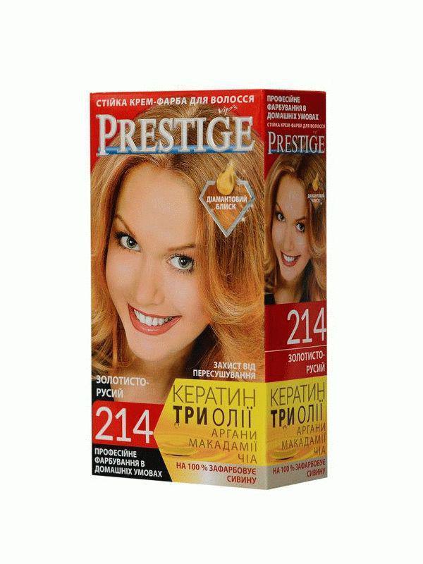 Стойкая крем краска Prestige №214 Золотисто-русый