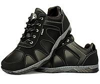 42, 43 і 44 р. Кросівки чоловічі демісезонні чорного кольору  кроссовки