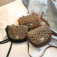 Женская сумочка через плечо с животным принтом