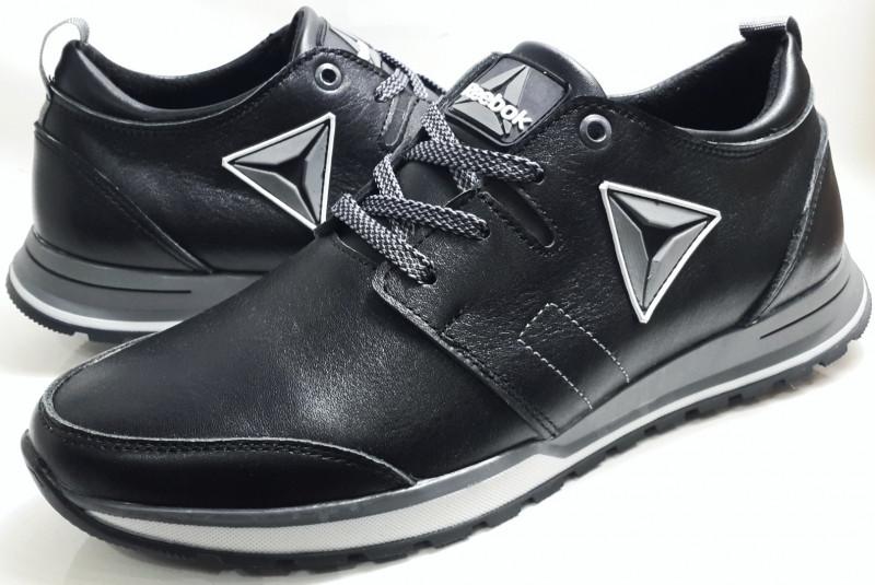 7b3e1cf1a87b Мужские кожаные кроссовки Reebok model №145,черные: продажа, цена в ...