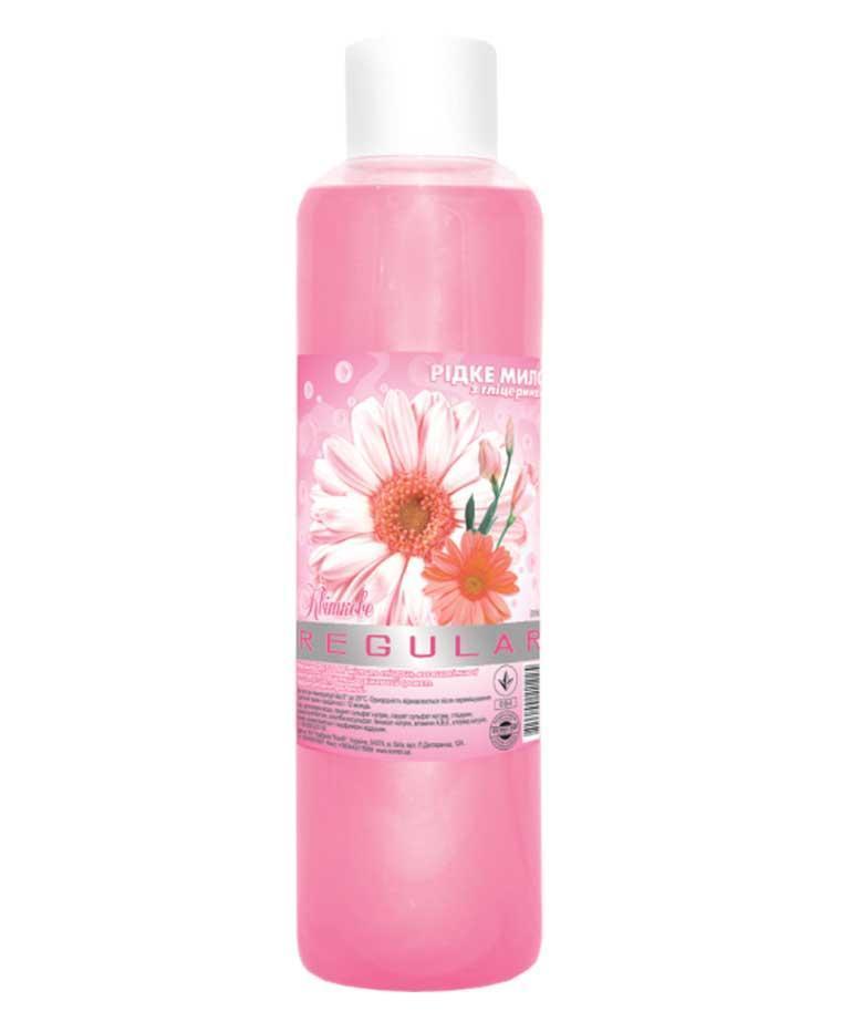 Жидкое мыло косметическое с глицерином Regular Цветочное, Комби 1л