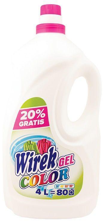 Жидкость для стирки цветной одежды, 4 л, Wirek Automat Color, Вирек