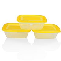"""Набор судочков """"Ал-Пластик"""" для пищевых продуктов 0,4л, 3шт"""