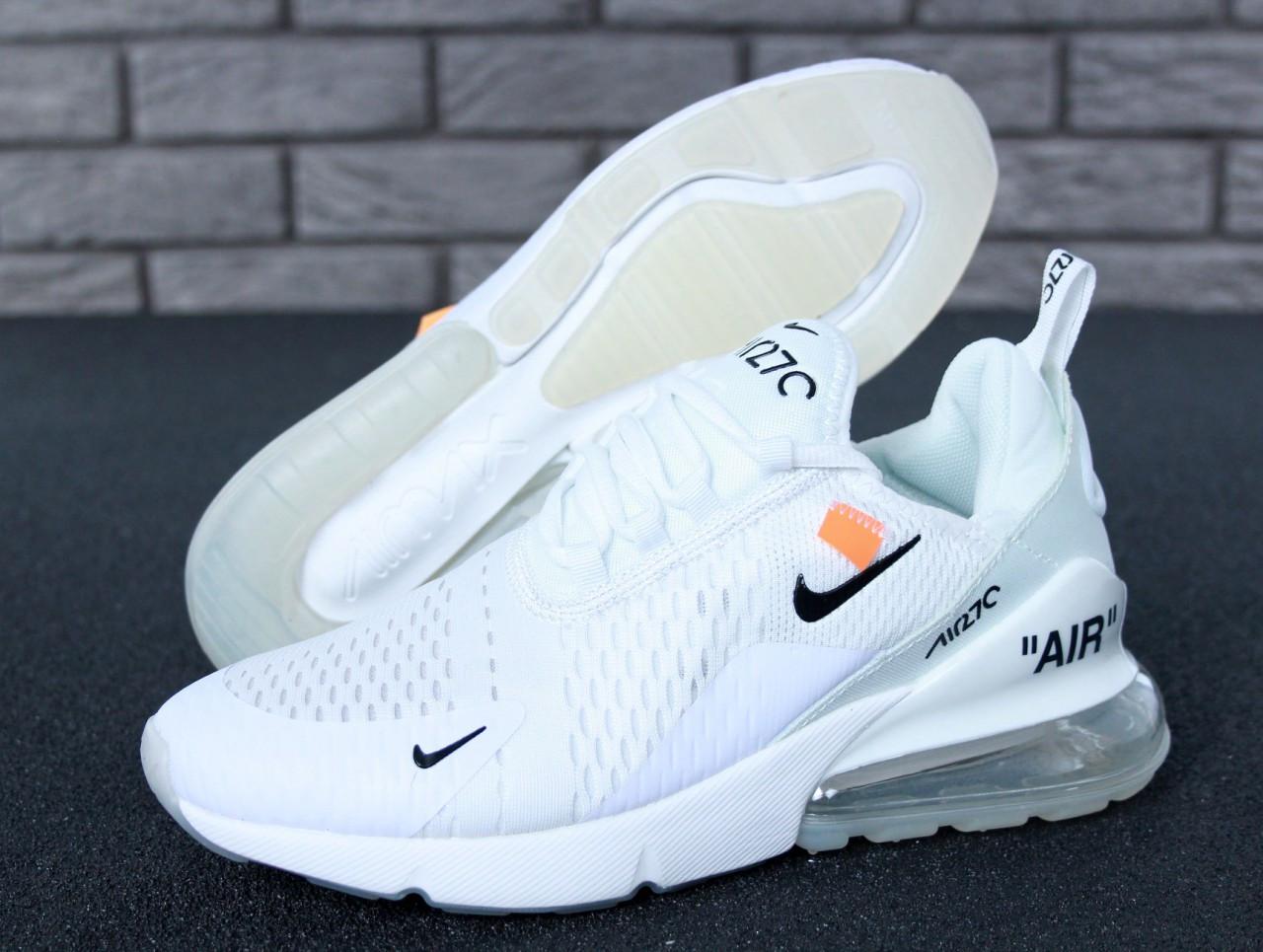 Мужские Кроссовки Nike Air Max 270 X Off-White X White — в Категории ... 50455f525364c