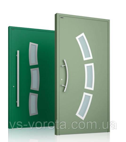 Двери для дома алюминиевые наружные WISNIOWSKI модель CREO 334 - размер 1200Х2300 мм