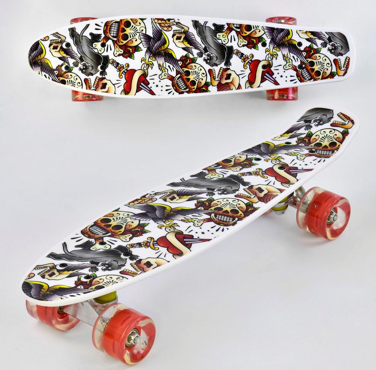Скейт Penny board Р 14209 Белый 74543