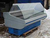 Холодильная витрина гастрономическая «Росс Siena» 2.1 м. (Украина), Широкая выкладка 72 см, Б/у, фото 1