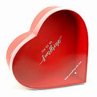 Подарочная коробка Сердце красное с прозрачной крышкой 25 х 23 x 10 см