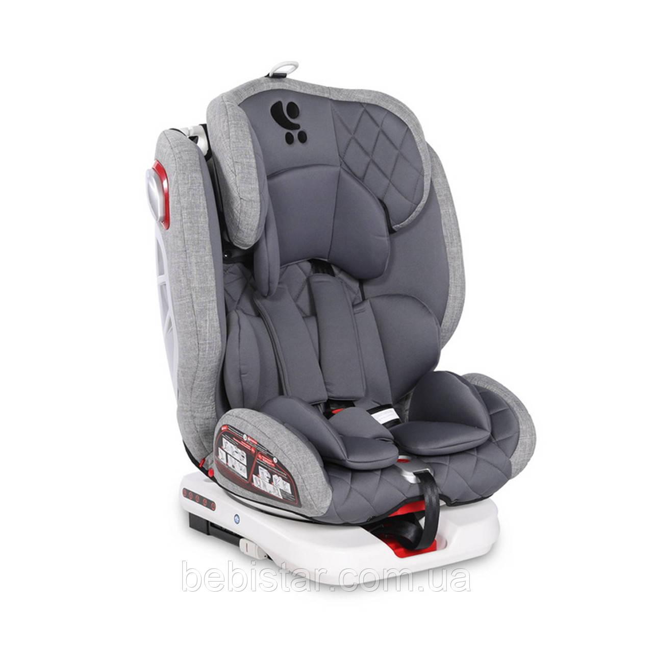 Автокресло серое Lorelli ROTO Isofix 0-36 kg Grey для детей с рождения до 12 лет