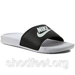 Шлепанцы Nike Benassi Jdi Mismatch White Black Реплика