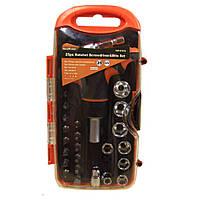 Высококачественный набор инструментов отвертка с трещеткой с головками и битами Gear Power HZF -8187A  25шт