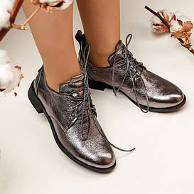Туфли женские  №174 (серебряные)