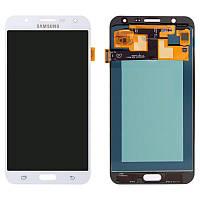 Дисплей для Samsung Galaxy J7 (2015) J700, модуль в сборе (экран и сенсор), белый, OLED