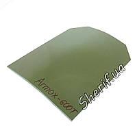 Бронепластина  4 класс защиты для бронежилетов ARMOX-600T 270x340x5.5 мм класс 4+