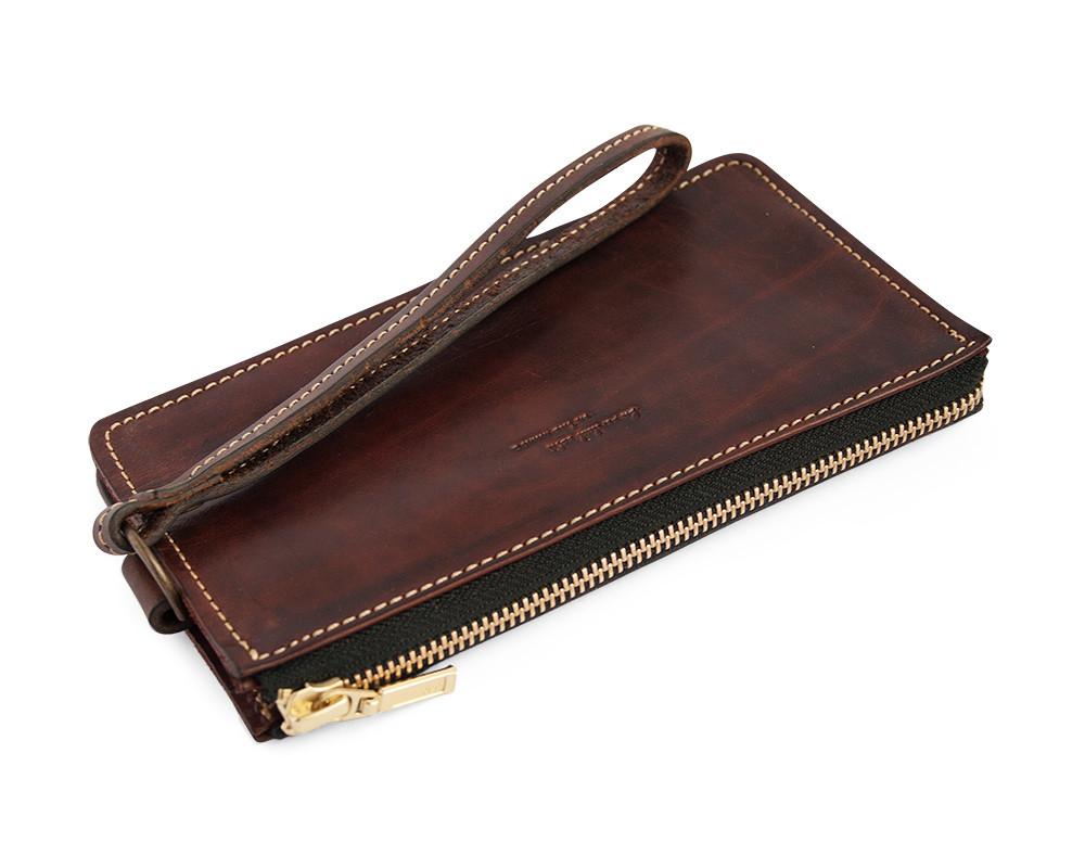 34ffa611e027 Клатч кожаный, кошелек, мужской Gato Negro Todos Brown ручной работы -  Интернет-магазин